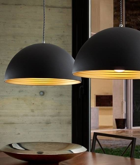 Metal Light Pendants & Shades | Lighting Styles Pertaining To Large Dome Pendant Lights (#12 of 15)