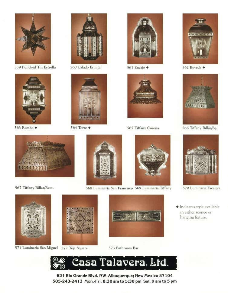 Mexican Tile & Mexican Light Fixtures Catalog: Casa Talavera Within Mexican Lights Fixtures (View 13 of 15)