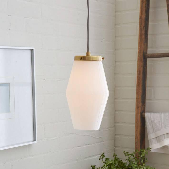 Mid Century Glass Pendant – Single | West Elm With Regard To West Elm Bathroom Pendant Lights (View 5 of 15)