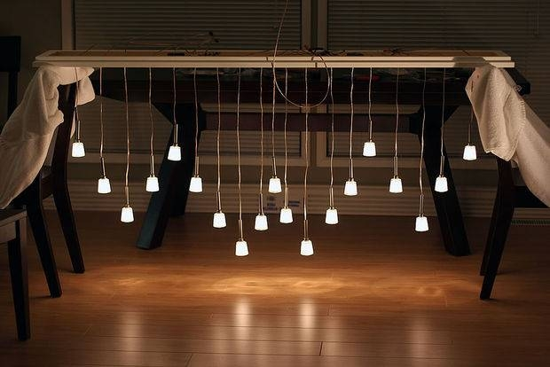 Mini Pendant Chandelier Made From Ikea Lamps: 9 Steps (With Pictures) Throughout Diy Multi Pendant Lights (#9 of 15)