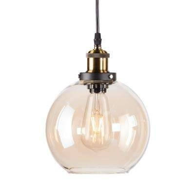 Mini – Yellow – Pendant Lights – Hanging Lights – The Home Depot With Brown Glass Pendant Lights (#11 of 15)