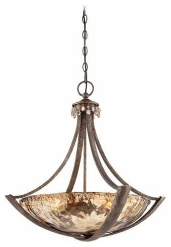 Minka Lavery 4993 271 La Bohem Bowl Pendant In Monarch Bronze Throughout Minka Lavery Pendants (#10 of 15)