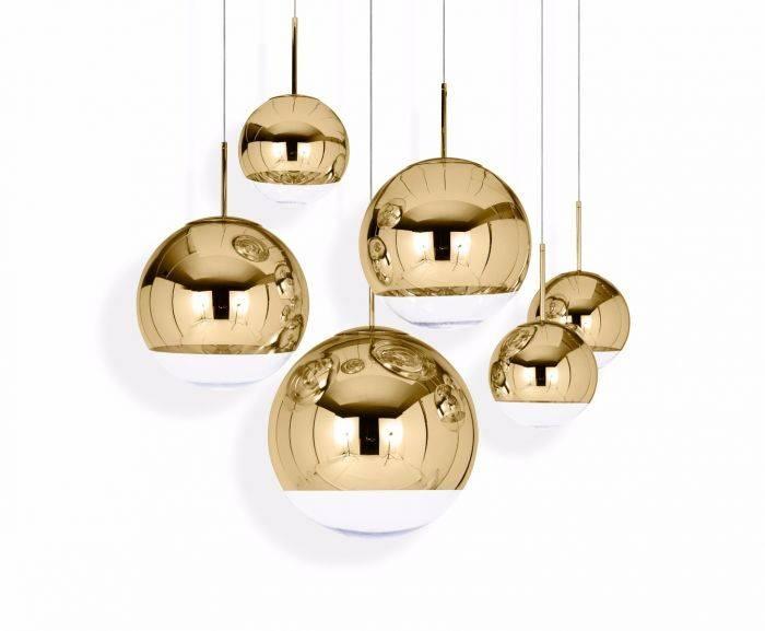 Mirror Ball Gold 40 Pendant | Pendant Lights | Tom Dixon Within Disco Ball Pendant Lights (#9 of 15)