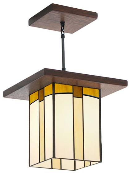 Mission Style Lantern For Hallway, Entryway Over A Kitchen Island Pertaining To Mission Style Pendant Lighting (#12 of 15)