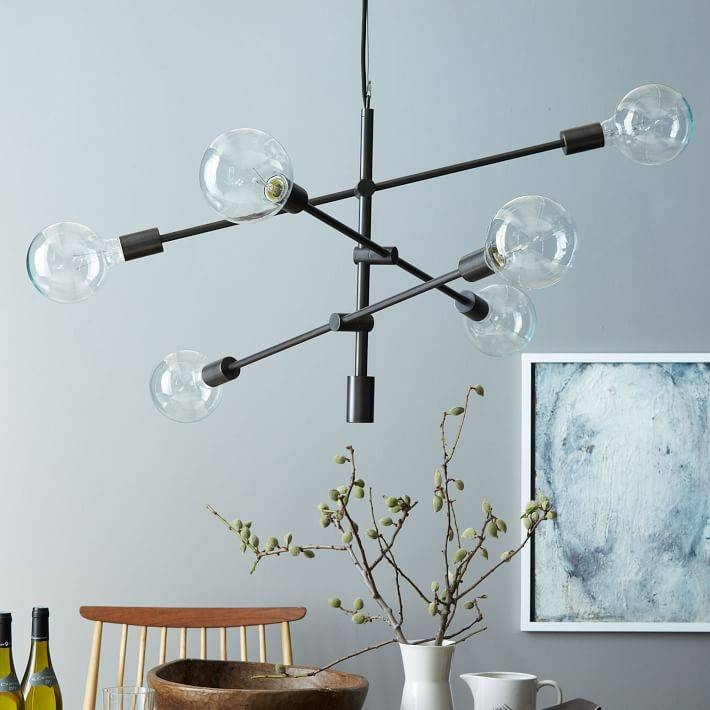 Mobile Chandelier – Large | West Elm Within Multi Arm Pendant Lights (#11 of 15)