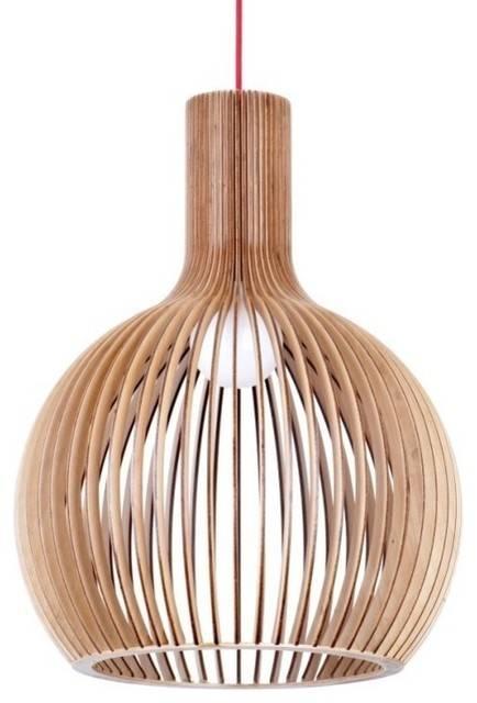 Modern Bentwood Ceiling Pendant Lighting Lamp – Scandinavian Intended For Bent Wood Pendant Lights (#12 of 15)