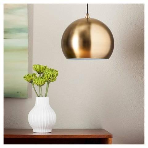 Modern Brass Gold Globe Pendant For Threshold Pendant Lights (#15 of 15)