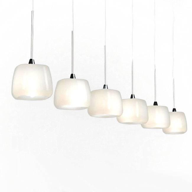 Modern Castiglioni Milk Glass Pendant Lighting 10512 : Browse Pertaining To Milk Glass Pendant Lights Fixtures (View 8 of 15)