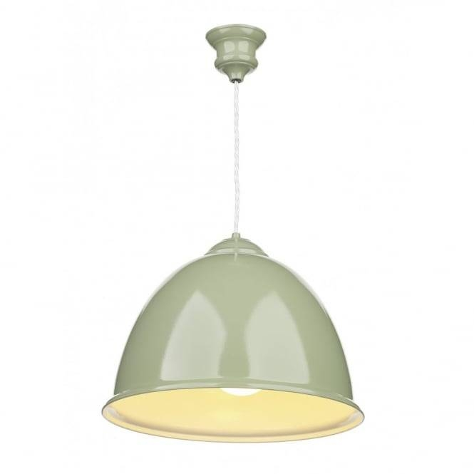 Modern Ceiling Pendant, Double Insulated. Olive Green Finish (#12 of 15)