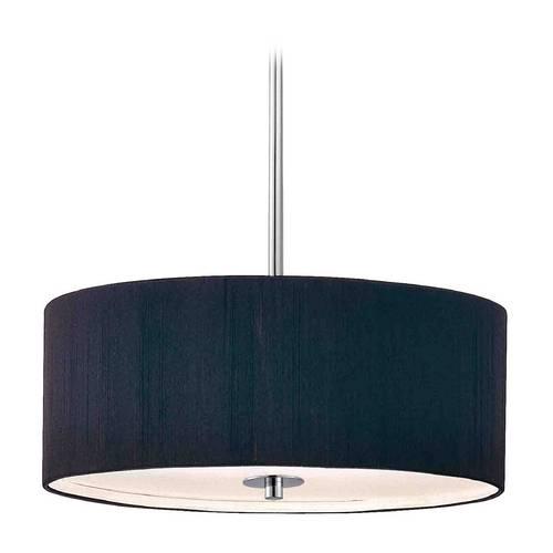 Modern Chrome Pendant Lights | Destination Lighting Intended For Black Drum Pendant Lights (#11 of 15)
