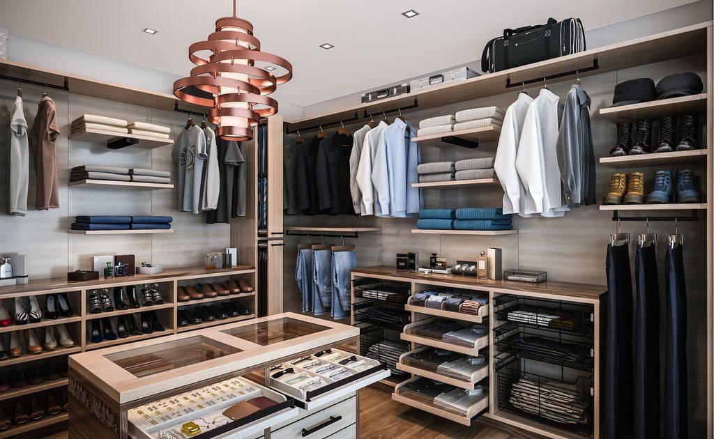 Modern Closet With Hardwood Floorscloset Factory | Zillow Digs Within Corbett Vertigo Medium Pendant Lights (View 13 of 15)