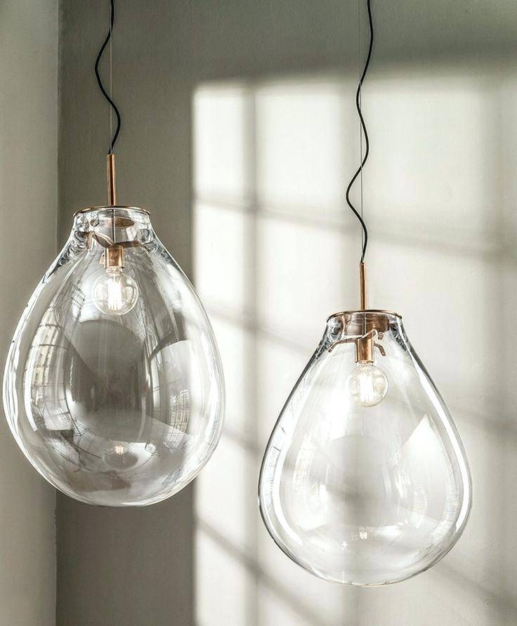 Modern Hand Blown Glass Pendant Lights Niche Aurora Pertaining To