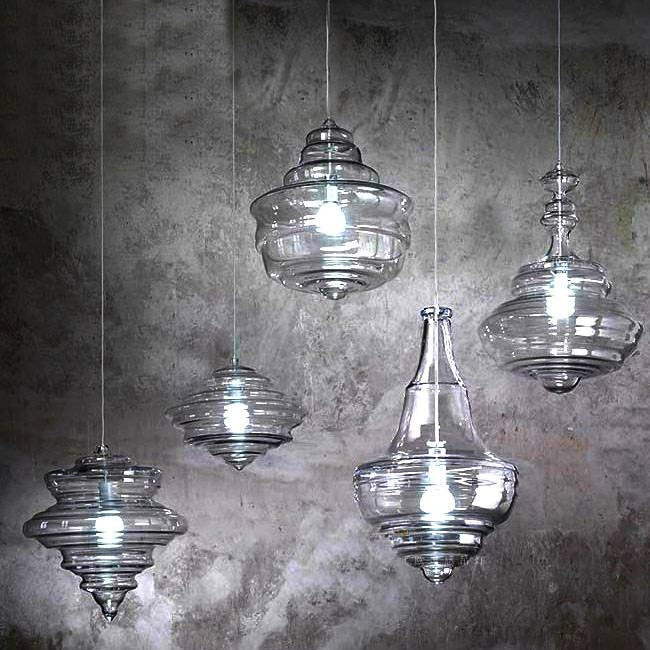 Modern North Blown Glass Pendant Lighting In Chrome Finish 10610 Inside Blown Glass Ceiling Lights (#13 of 15)