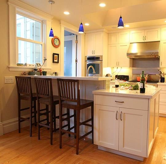 Modern Pendant Lights Renew San Francisco Family Kitchen | Blog Inside Blue Kitchen Pendant Lights (#15 of 15)