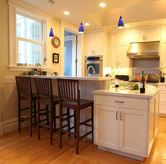 Modern Pendant Lights Renew San Francisco Family Kitchen | Blog Pertaining To Blue Pendant Lights For Kitchen (#12 of 15)