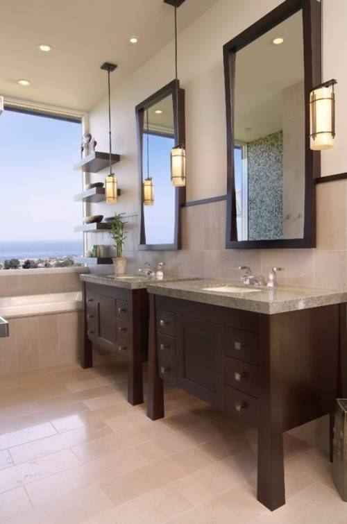Modernity Collective: 8 Stunning Bathrooms – Guest Blogger! For Bathroom Mini Pendant Lights (#11 of 15)