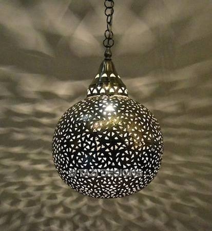 Popular Photo of Moroccan Punched Metal Pendant Lights