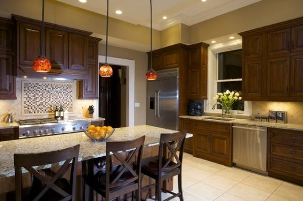 Popular Photo of Mini Pendants For Kitchen Island