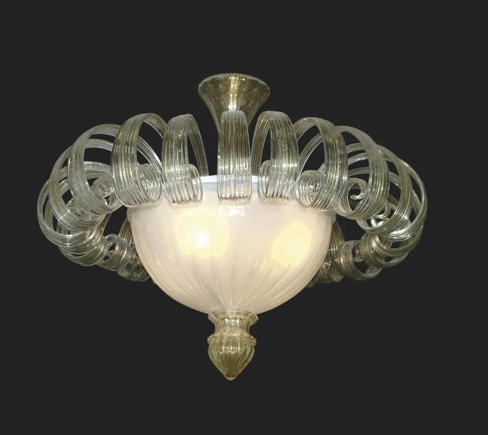Murano Glass Ceiling Light – The World Finest Glass Ceiling In Venetian Glass Ceiling Lights (#9 of 15)