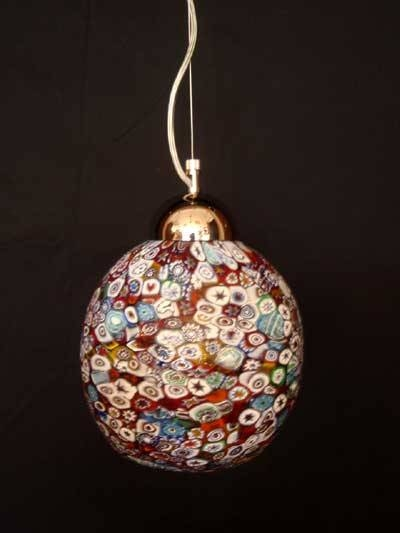 Murano Glass Lighting – Murano Glass Millefiori – Murano Glass In Murano Lights Fixtures (#9 of 15)