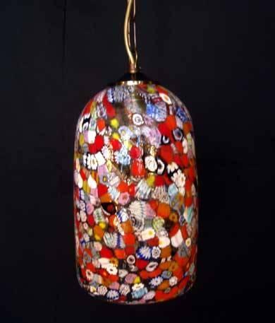 Murano Glass Lighting – Murano Glass Millefiori – Murano Glass Throughout Art Glass Pendant Lights Shades (View 12 of 15)