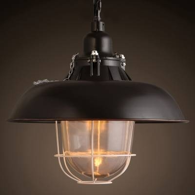 Nautical Black Metal Pendant Light – Beautifulhalo With Warehouse Pendant Light Fixtures (View 8 of 15)