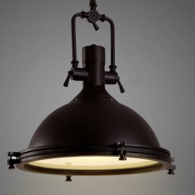 Nautical Pendant Light With Frosted Diffuser – Beautifulhalo Within Industrial Pendant Lights (#13 of 15)