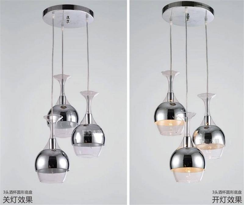New Chandeliers Wine Glass Pendant Light Hanging Lighting Ceiling Pertaining To Wine Glass Pendants (#10 of 15)