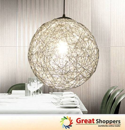 Popular Photo of Wire Ball Lights Pendants