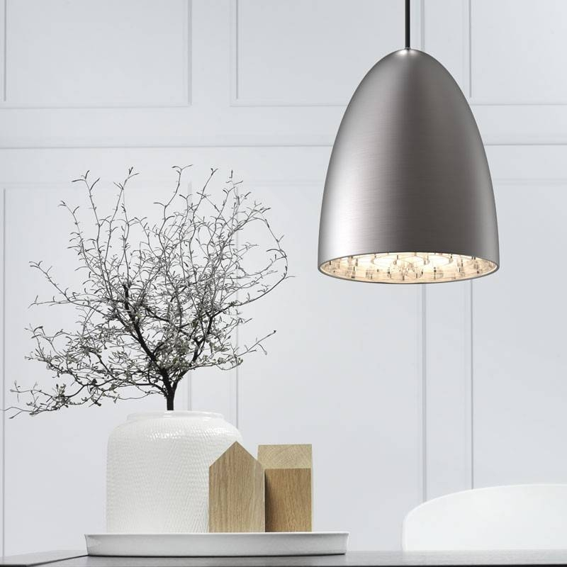 Nexus 20 Pendant – Brushed Steel – Lighting Direct Within Brushed Steel Pendant Lights (#8 of 15)