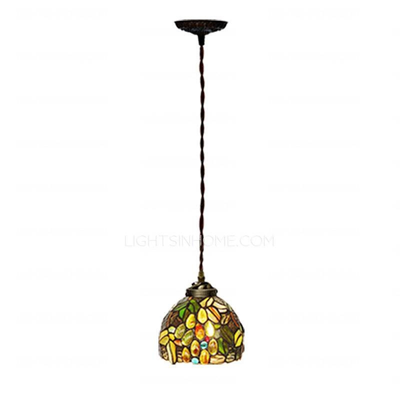 Nice Mini Pendant Light Rustic Glass Shade Wrought Iron Mini With Wrought Iron Mini Pendant Lights (#7 of 15)