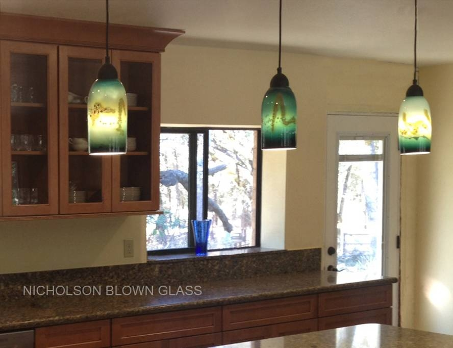Nicholson Blown Glass Pendant Lighting For Blown Glass Kitchen Pendant Lights (#13 of 15)