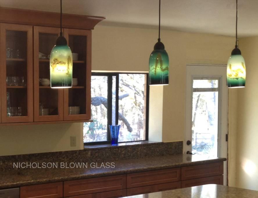 Nicholson Blown Glass Pendant Lighting In Blown Glass Pendant Lighting For Kitchen (#13 of 15)