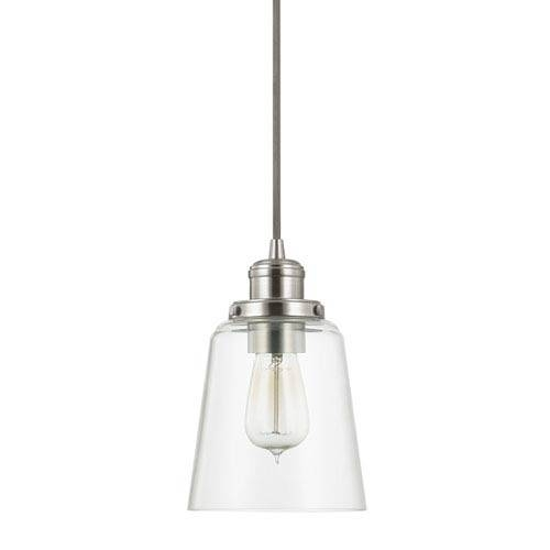 Nickel Brushed Mini Pendant Lighting | Bellacor Inside Brushed Nickel Mini Pendant Lights (#9 of 15)