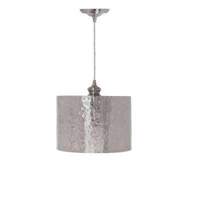 Nickel – Drum – Brushed Nickel – Pendant Lights – Hanging Lights With Regard To Brushed Nickel Pendant Lighting (View 15 of 15)