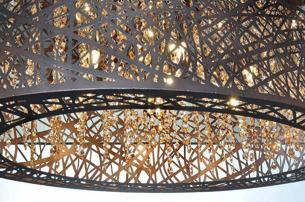 Nowlighting Offers: Et2 Lighting Et 133363 Lighting Bronze Et2 Intended For Et2 Inca 9 Lights Pendants (View 8 of 15)