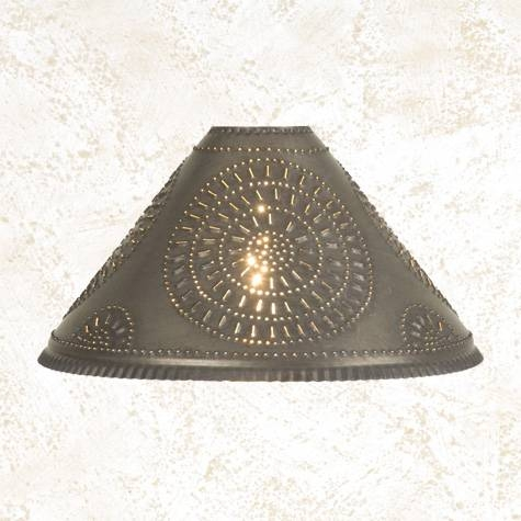Oil Lamp Punched Tin Lamp Shade With Regard To Punched Tin Lights Fixtures (#6 of 15)