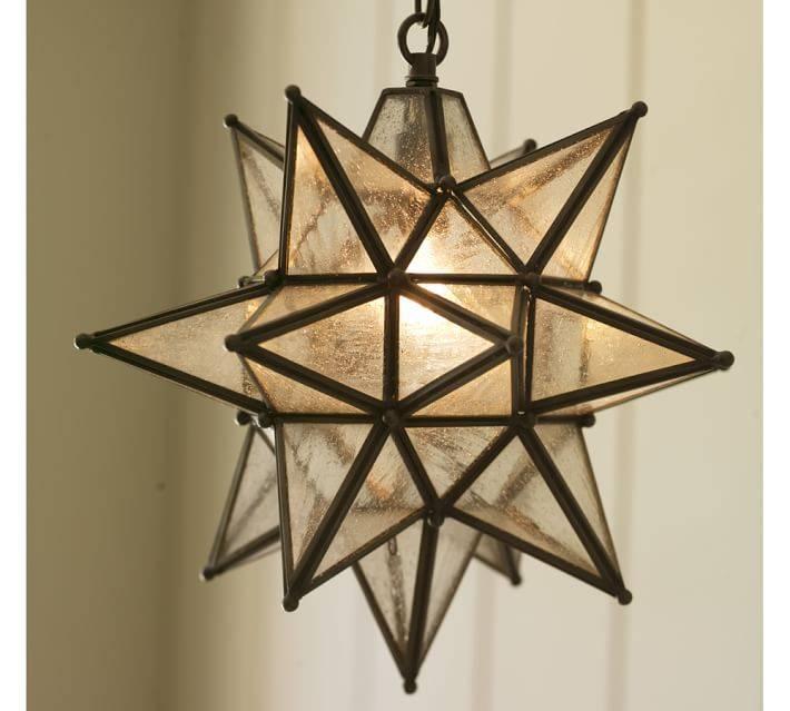 Olivia Indoor/outdoor Star Pendant | Pottery Barn Inside Barn Pendant Lights (#11 of 15)
