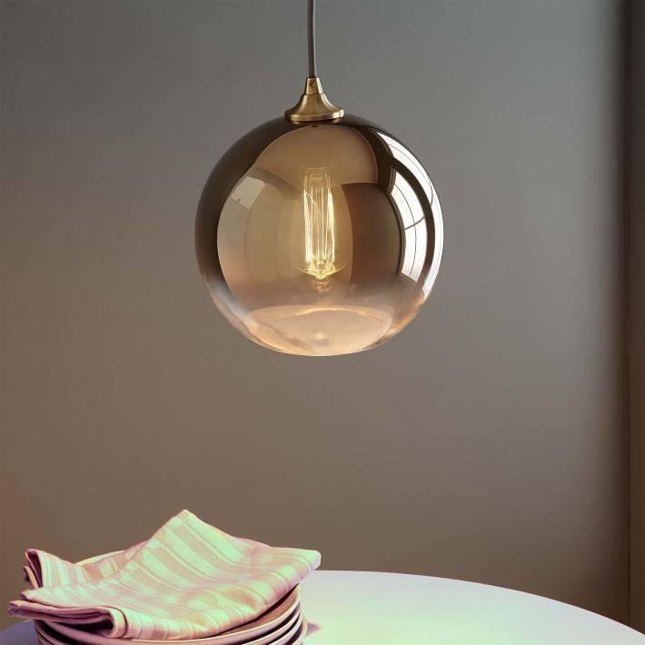 Ombre Mirrored Pendant | West Elm Regarding West Elm Bathroom Pendant Lights (View 8 of 15)