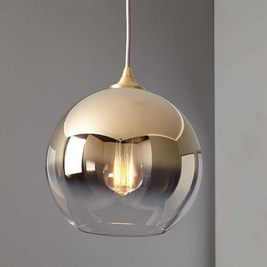 Ombre Mirrored Pendant | West Elm Within West Elm Bathroom Pendant Lights (View 11 of 15)