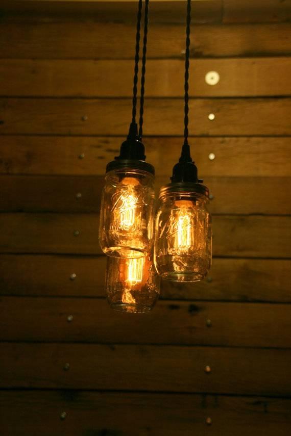 On Sale 3 Pint Jar Pendant Light Mason Jar Chandelier Light With Regard To Mason Jar Pendant Lights For Sale (#15 of 15)