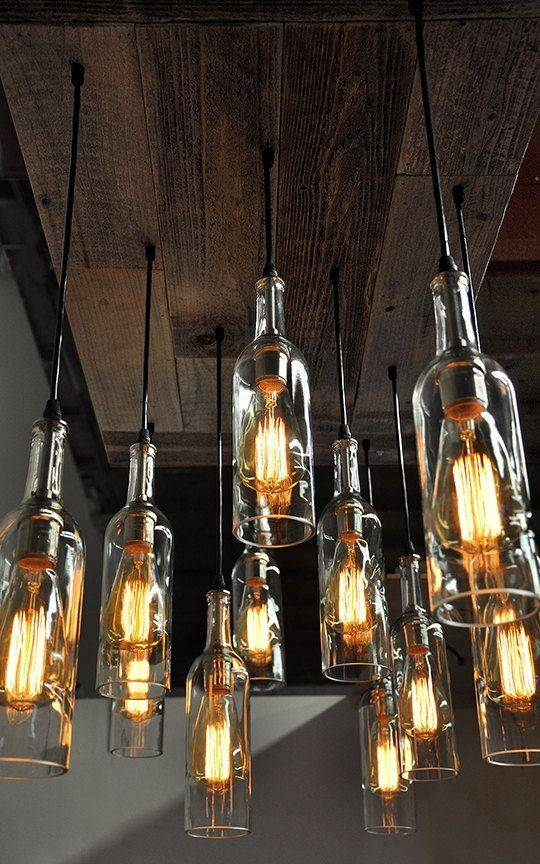 One Of A Kind Designed Exclusivelyindustrial Lightworks In Wine Bottle Ceiling Lights (View 13 of 15)