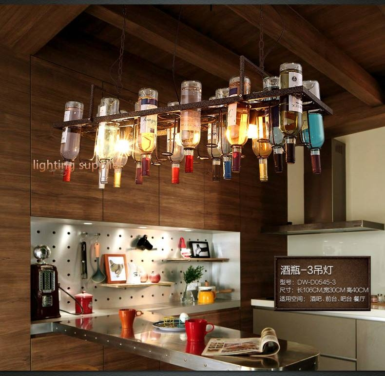 Online Get Cheap Lamp Wine Bottle Aliexpress | Alibaba Group With Wine Bottle Ceiling Lights (View 11 of 15)