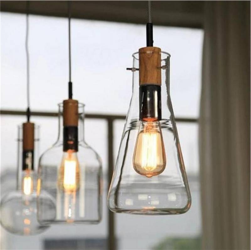 Online Get Cheap Wine Glass Light Fixture  Aliexpress Intended For Wine Bottle Pendant Lights (#9 of 16)