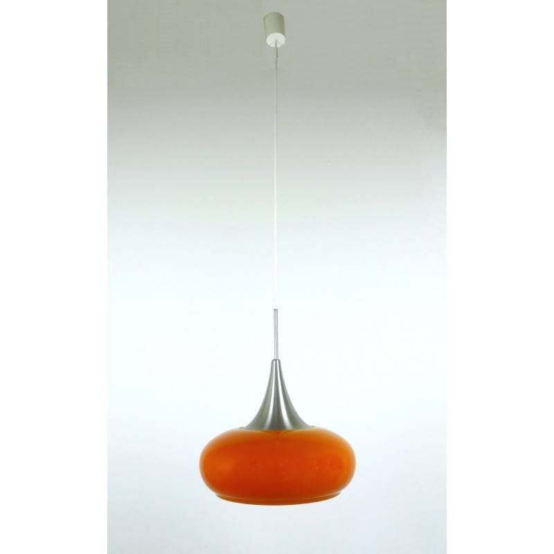 Orange Glass Pendant Light From Doria, Germany – 1960S – Design Market Pertaining To 1960S Pendant Lights (#13 of 15)