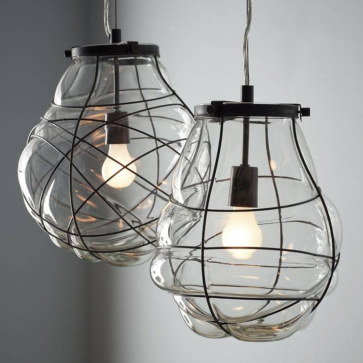 Organic Blown Glass Pendant | West Elm Within Blown Glass Pendant Lights Fixtures (#14 of 15)