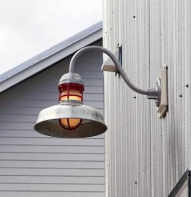 Outback Gooseneck Light – Industrial – Tampa  Barn Light Usa Inside Galvanized Barn Lights (#11 of 15)