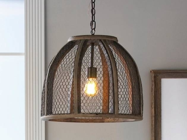 Outstanding Large Chicken Wire Pendant Light Nilza Chicken Wire Regarding Chicken Wire Pendant Lights (#10 of 15)
