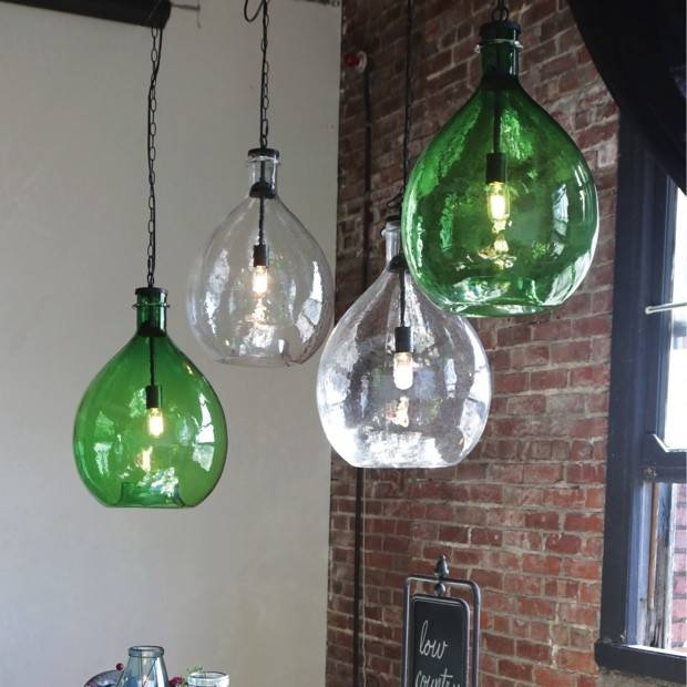 Oversized Glass Jar Pendant Light | Antique Farmhouse Pertaining To Glass Jug Lights Fixtures (#15 of 15)