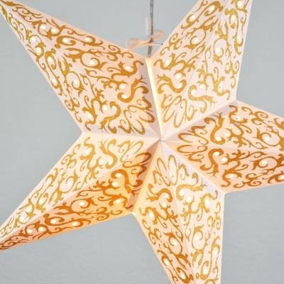Paper Star Lanterns – Star Lamps – Star Lights Pertaining To Paper Star Pendant Lights (#11 of 15)